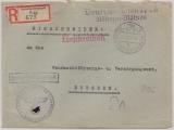Durch Dt. Dienstpost B. + M., Einschreiben- Fernbrief von Prag nach Dresden