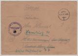 Brief von Kiel (1. Schiffstammabteilung; welches Schiff?) nach Hamburg, vom 19.4.1945