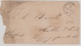 Dt.- Französischer Krieg, 1870, Briefumschlag (mit Lagerungsspuhren) nach Halle