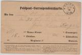 Dt.- Französischer Krieg, 1870, Feldpost- Correspondenzkarte, Heimat- Front