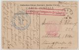 Zivilinternierte, ca. 1916, Postkarte von Corsika nach Schönebeck / Elbe, mit 2 Zensuren