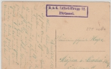 Dt. Feldpost 1915, BAK Luftschifftrupp 12, Brüssel,  auf Postkarte nach Meißen (?) bei Minden