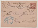 25 Pfg. - Rohrpost- GS verwendet als Rohrpostkarte innerhalb Berlin´s, 1879