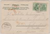 Nr.: 70 (2x), 1903, MeF, auf Postkarte per Österreichische- Bodensee- Schiffspost nach St. Gallen (CH)