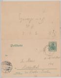 5 Pfg. Antwort- GS, 1902, per Österreichische- Bodensee- Schiffspost nach Lichtenthal u. von Friedrichshafen nach Konstanz