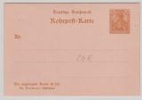 Reichspost 25 Pfg.- Antwort- Rohrpost- GS RP 11, ungelaufen