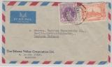 Burma, 1955, nette MiF auf Lupo- Brief nach Berlin