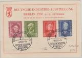 117- 20, kpl. Satz auf Karte, von der Deutschen Industrie Ausstellung in Berlin, 1950