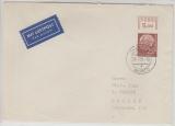 186 WOR als EF auf Lupo- Fernbrief von Lorch nach Bremen