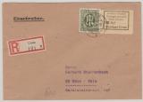 Unna, Nr.: 3 u.a. in MiF auf Einschreiben- Fernbrief von Unna nach Köln, rs. mit Ankunftsstempel