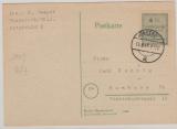 Ründeroth, Nr.: 2 B, als EF auf Fernpostkarte von Ründeroth nach Hamburg, geprüft Zierer BPP