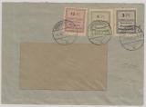 Ründeroth, Nr.: 1- 3, als MiF auf Fensterbriefumschlag ab Ründeroth
