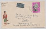 China; 1960, 52 Yuan (Chrisanthemen, Höchstwert), als EF auf Lupo- Auslandsbrief von Peking nach Berlin