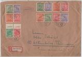116- 19 Y, 120- 23 X + 124- 25 Y, als MiF auf Einschreiben- Fernbrief von Markranstädt nach Altenburg, gepr. Dr. Jasch BPP