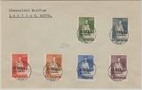 Finnland, 1942, Überdruckausgabe von 50 p - 5 Marka zusammen auf Umschlag, abgestempelt Aunus, nicht gelaufen!