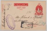 Osmanisches Reich / Türkei, 1917, Auslands- GS geklaufen von Galata nach Berlin, mit Zensur!