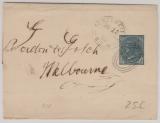 Australien, New South Wales, 1899, 1/2 Penny Streifband, gelaufen von Tenterfield (?) nach Melbourne