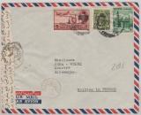 Ägypten, interessante MiF auf Lupo- Brief von Cairo nach Hannover (D), mit Ägyptischer Zensur