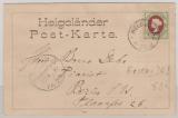 14e als EF auf schöne Postkart,e vom Ersttag von Helgoland bei Deutschen Reichspost! Von Helgoland nach Berlin