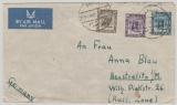 Cyrenaica, 1950, MiF auf Lupo- Auslandsbrief aus Derna (German Civilian Camp) nach Neustrelitz! Sehr selten!