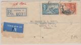Gold Coast,, 1949, nettee MiF, auf Einschreiben- Lupo- Auslandsbrief von Accra nach London