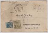Ägyten, 1924, MiF auf Auslands- Einschreiben von Abutig nach Berlin