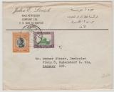 Jordanien, 1960, nette MiF auf Auslandsbrief von ... nach Rüdersdorf, bei Berlin