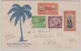Western Samoa / New Zealand, 1947, Unabhängikeitsausgabe, als MiF auf Einschreiben- Fernbrief nach Columbia / USA