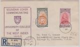 Leward Island / St. Kitts, 1951, Jubiläums- Ausgabe 1950, auf Auslands- Einschreiben in die USA