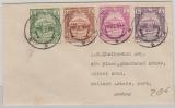 Burma, 1948, 4- Farben MiF auf Auslandsbrief nach Bombay (Indien)