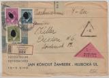 B. + M., Nrn.: 91, 102 + 103 als MiF auf NN- Einschreiben- Fernbrief von Senftenberg nach Dresden