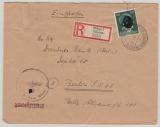 Durch Deutsche DP / Dt. Bes. Ostland, 1944, 50 Pfg. AH als Ef auf Einschreiben von Wilna nach Berlin, sehr selten!
