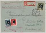 Durch Deutsche DP / Dt. Bes. Ukraine, 1943, 30 Pfg. AH u.a. als MiF auf Einschreiben von Kiew nach Berlin, sehr selten!
