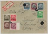 Elsaß, Nrn.: 15, u.a., als MiF auf Einschreiben Fernbrief