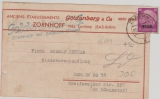 Elsaß, Nr.: 12, als EF auf Päckchen-Aufkleber von Zabern nach Berlin, Selten!