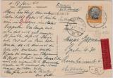 Elsaß, Nr.: 16, als EF auf Expres- Fernpostkarte von Strassburg nach Berlin, Selten!