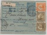 Jugoslavien, 1921, 10 Para- Paketkarten- GS mit Zusatzfrankatur ab Zagreb