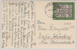 BRD 139 als EF auf Postkarte von Wehr (Baden) nach Berlin