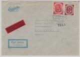 BRD 131 + 137 in MiF auf Lupo- Eilboten- Auslandsbrief von Düsseldorf nach Stockholm