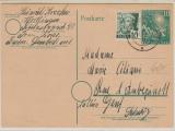 BRD 10 Pfg. Bundestags- GS mit 10 Pfg. FRZ- Baden (!) Zusatzfrankatur, als Auslandspostkarte von Worblingen nach Genf