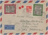 BRD Mi. Nr.: 139- 40 als MiF mit Bizone (!) auf Lupo- Auslandsbrief, von Kitzingen nach Madem Lakos (Griechenland)! Seltene MiF!!!