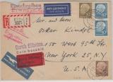 Brd Mi. Nr.: 260 y (2x) u.a., als MiF auf Lupo- Eilboten- Expres-Auslandsbrief von Langen nach New York (USA)! Selten!