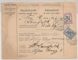 Finnland, 1923, 5 + 2 Mk. als MiF auf Paketkarte für ein Paket von Helsinki nach Sideby