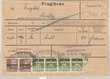 Dänemark, 1965, 2x 1 Kr. + 4x 10 Öre mit Postfaerge- Überdruck auf Frachtbrief, für 1 Brotpaket von Esbjerg nach Nordby