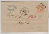 Frankreich, 1872, 40 Ct. EF von Avignon nach Naples, mit gutem Stempel, nach Yvert + T, + 700 € Aufschlag!