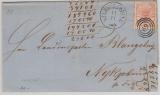 Dänemark, 1865, 4 Sk. EF nach Nyköbing