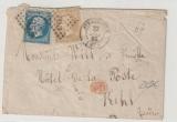Frankreich, 1862 (?), 30 Centimes MiF auf Auslandsbrief von Strassbourg nach Kehl (D.)