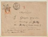 Frankreich, 1875, 40 Centimes EF auf Fernbrief von Paris nach Boulange