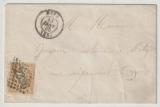 Frankreich, 1865, 10 Centimes als EF auf Ortsbrief innerhalb Metz