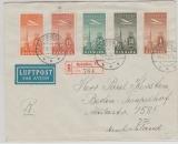 Dänemark, 1939, E.- Lupo Brief von Nyköbing nach Berlin mit Flugpost- Satz von 10 Öre - 1 Krone